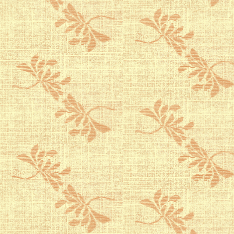 Twin Lotus- peach fabric by materialsgirl on Spoonflower - custom fabric