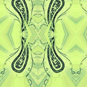 Paisley4-green/black