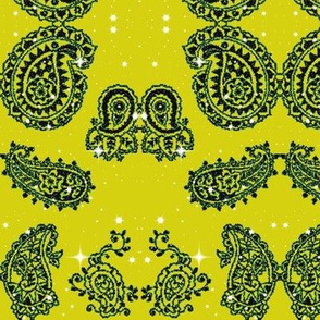 Paisley13-green/black