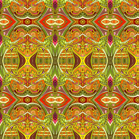 We'll Have a Hot Time in the Old Jungle Tonight fabric by edsel2084 on Spoonflower - custom fabric