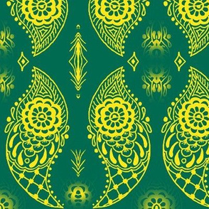 Paisley6-teal/yellow