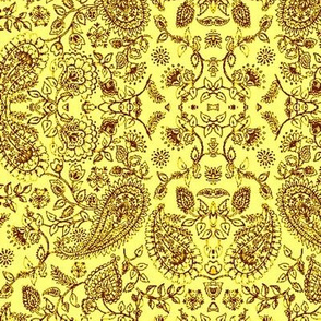 Paisley11-yellow/brown-Large
