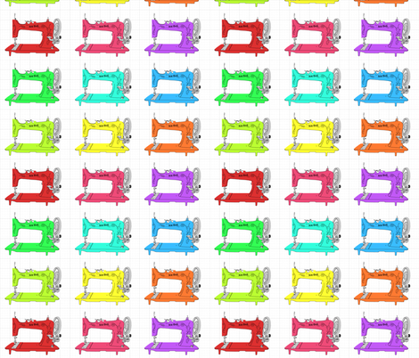Sew Geek Sewing Machines fabric by krw1243 on Spoonflower - custom fabric