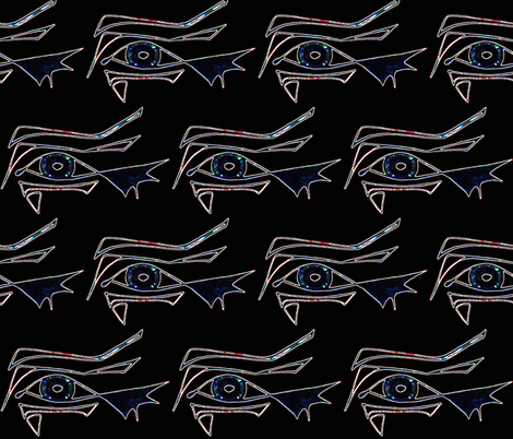 Tribal Eye Watching You fabric by hrhsf-sisterface-designs on Spoonflower - custom fabric