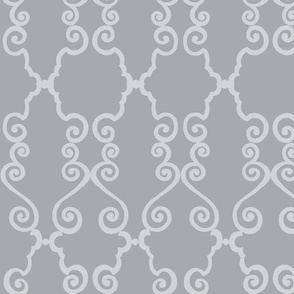 fancy scroll  - grey