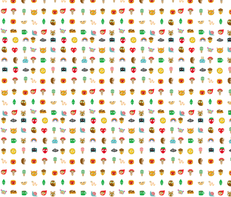 kawaii fabric by heidikenney on Spoonflower - custom fabric