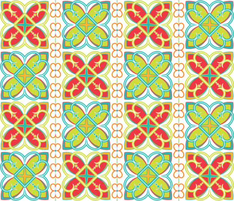 Asian Patterns Bright fabric by alchemiedesign on Spoonflower - custom fabric