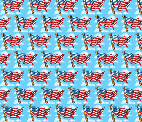 Old Glory fabric by mezzime on Spoonflower - custom fabric