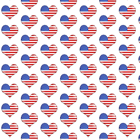 I heart the USA fabric by mezzime on Spoonflower - custom fabric