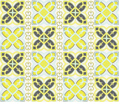 Asian Patterns Citr-Gry fabric by alchemiedesign on Spoonflower - custom fabric
