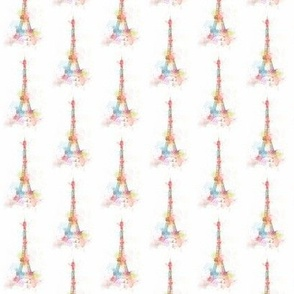 Eiffel Tower in color