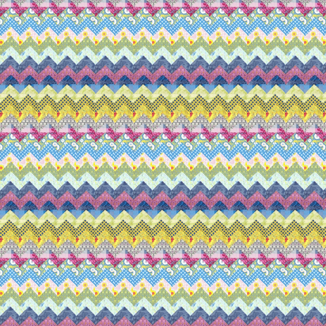 Quilt chevron pattern fabric by mezzime on Spoonflower - custom fabric