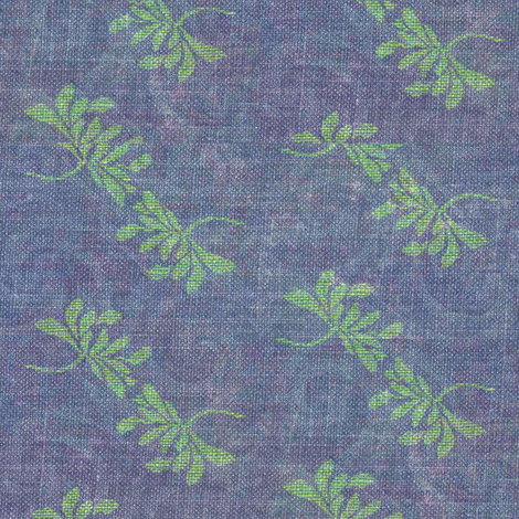 twin lotus - green with subtle blue/purple swirls fabric by materialsgirl on Spoonflower - custom fabric
