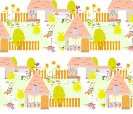 Gardening_pause fabric by alfabesi on Spoonflower - custom fabric