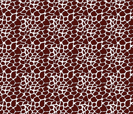 Giraffe love - can you see the heart? Brown tones fabric by martaharvey on Spoonflower - custom fabric