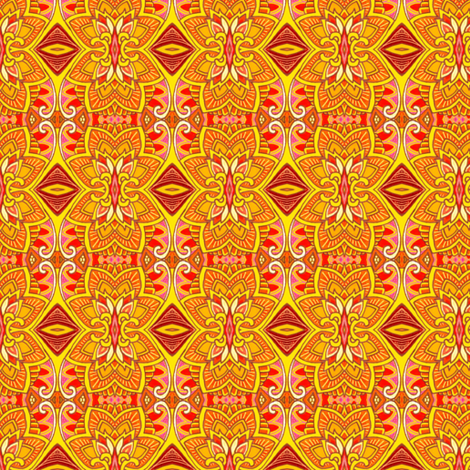 Luau Time on the Beach In Hawaii fabric by edsel2084 on Spoonflower - custom fabric