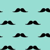 Yummy turquoise moustaches