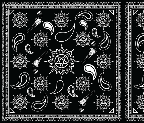Supernatural Bandana fabric by saraholledesign on Spoonflower - custom fabric