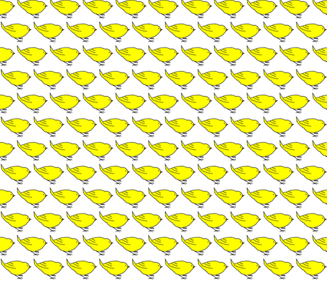 Yellow Bird.... fabric by sweetie_netts on Spoonflower - custom fabric