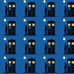 The Doctor,The Tardis,and the Moonlight