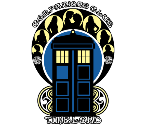 Timelords Companion Club (largeprint) fabric by office_ink on Spoonflower - custom fabric