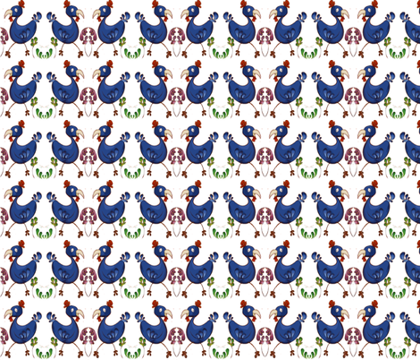 pop_art_chickens fabric by tat1 on Spoonflower - custom fabric