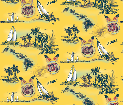 Vintage Sailing  fabric by waiomaotiki on Spoonflower - custom fabric