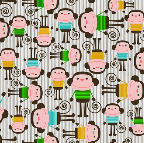 Monkeys fabric by natitys on Spoonflower - custom fabric