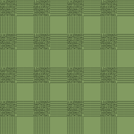 pi are square (vintage green) fabric by weavingmajor on Spoonflower - custom fabric