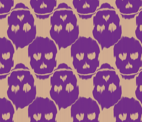 ikat skulls  fabric by fable_design on Spoonflower - custom fabric