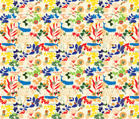 Summer-Friends fabric by lelechan on Spoonflower - custom fabric