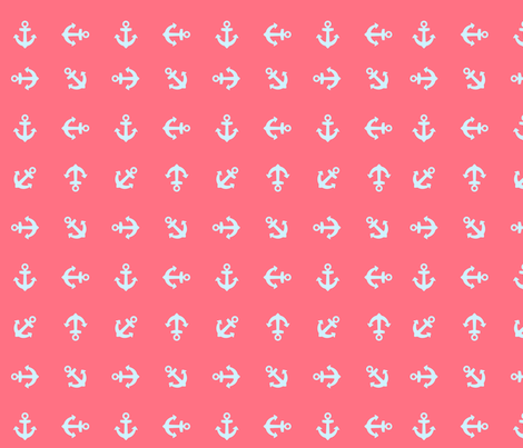 neon anchors fabric by annaboo on Spoonflower - custom fabric