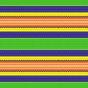 Orange blue and yellow stripes