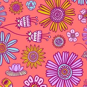 Spring Florals - coral