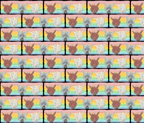 Alpacaluvtriptych-ed fabric by luvinewe on Spoonflower - custom fabric