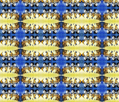 Blue Ladies3 fabric by nancy_martino on Spoonflower - custom fabric