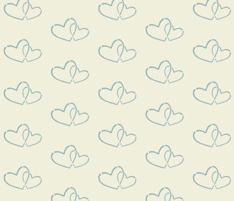 Hearts together 2 fabric by mezzime on Spoonflower - custom fabric