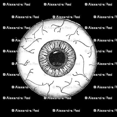 Black&White Eyes on white