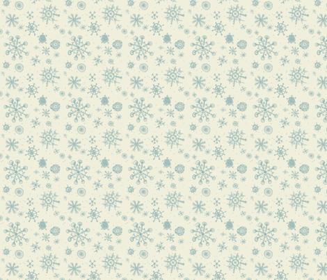 snowflakes are gently falling fabric by mezzime on Spoonflower - custom fabric