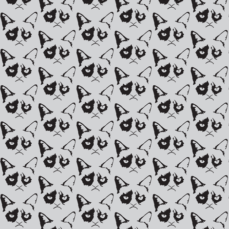 Cat Shadow Grey fabric by knitmileofdoom on Spoonflower - custom fabric