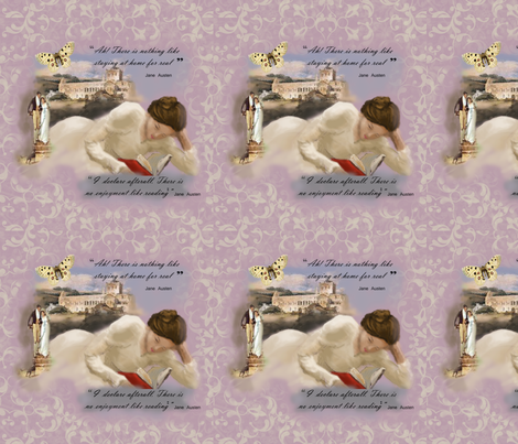 Jane_Austen_I_Declare fabric by butterflyme on Spoonflower - custom fabric