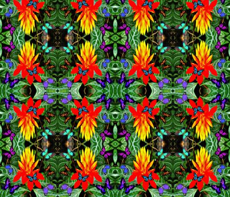 Starburst Flower & Butterflies fabric by hrhsf-sisterface-designs on Spoonflower - custom fabric