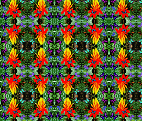 Hawaiian Torch Starburst Flower fabric by hrhsf-designs on Spoonflower - custom fabric