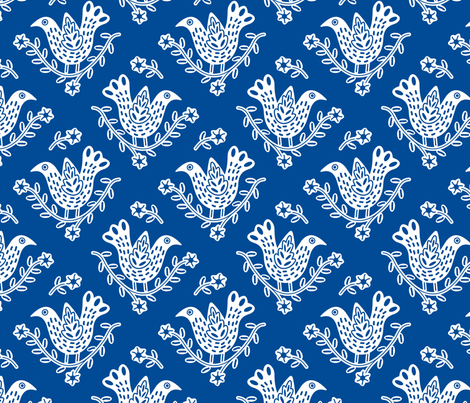 BlueBirdVC fabric by yellowstudio on Spoonflower - custom fabric