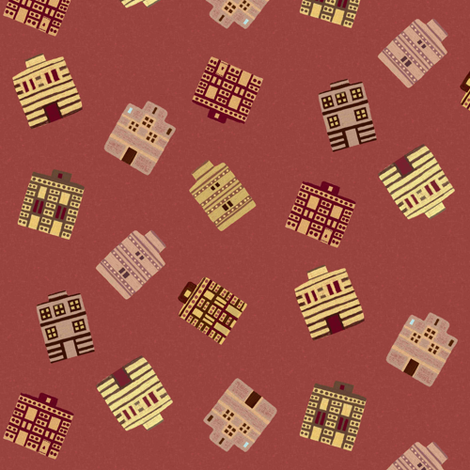 Tumbled Minoan houses by Su_G fabric by su_g on Spoonflower - custom fabric