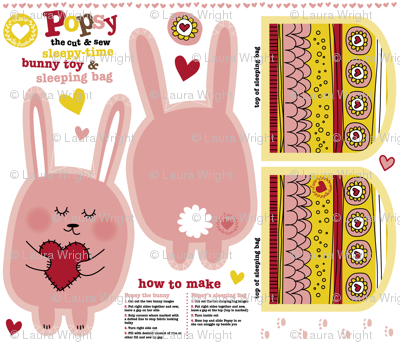 Popsy the cut and sew bunny toy