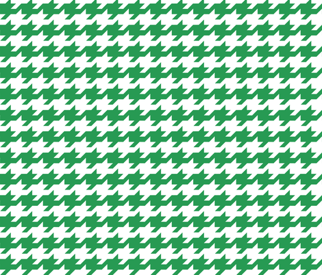 Houndstooth - Kelly green and white fabric by little_fish on Spoonflower - custom fabric