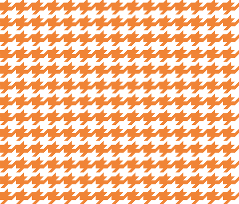 Houndstooth - Orange and white fabric by little_fish on Spoonflower - custom fabric