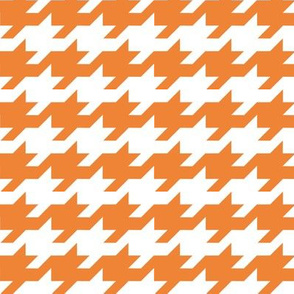 Houndstooth - Orange and white