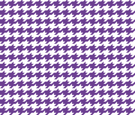 Houndstooth - Purple and white fabric by little_fish on Spoonflower - custom fabric